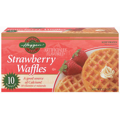 Haggen Strawberry 10 Ct Waffles 12.3 Oz Box