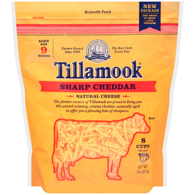 Tillamook® Shredded Sharp Cheddar Cheese 2 lb. Bag