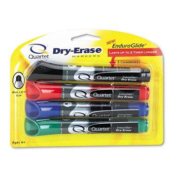 Quartet EnduraGlide Dry Erase Markers Chisel Tip Assorted Colors 4Pack