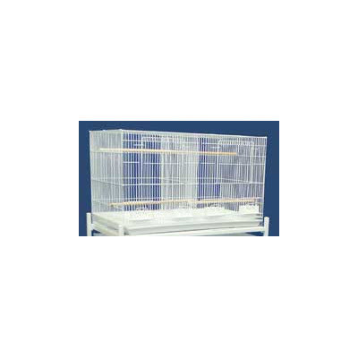 Yml Breeding Cage with Divider Color: Antique Silver