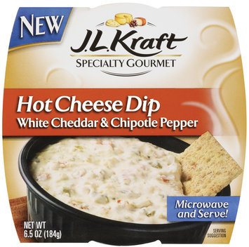 J.L. Kraft Cheddar White & Chipotle Pepper Hot Cheese Dip 6.5 Oz Sleeve