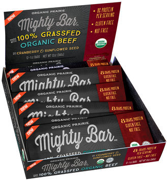 Organic Prairie® Mighty Bar™ Organic Beef with Cranberry & Sunflower Seed 12-1 oz. Bars