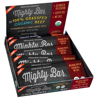 Organic Prairie® Mighty Bar™ Organic Beef with Cranberry & Sunflower Seed 12-1 oz. Bars