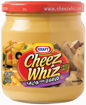 Kraft Cheez Whiz Salsa Con Queso Cheese Dip 15 Oz Jar