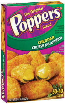 Poppers Cheddar Cheese 30-40 Ct Stuffed Jalapenos 32 Oz Box