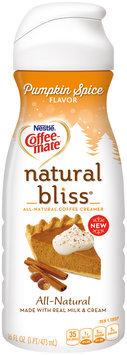 COFFEE-MATE Natural Bliss Pumpkin Spice Liquid Coffee Creamer 16 fl. oz. Plastic Bottle