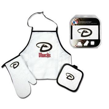 Mcarthur Towel Arizona Diamondbacks 3-Piece BBQ Tailgate Set White