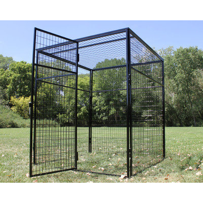 K9 Kennel Animal Enclosure with Welded Wire Top