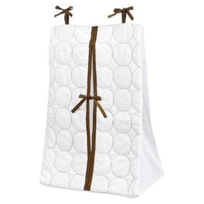 Bacati Quilted Diaper Stacker Green & Chocolate For Baby