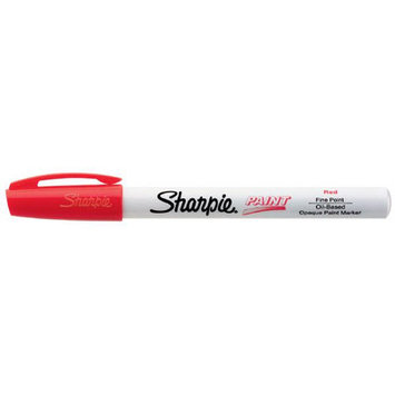 Sanford Brands Sanford Paint Markers, Fine, Oil-based, Water/Fade Resistant, Red