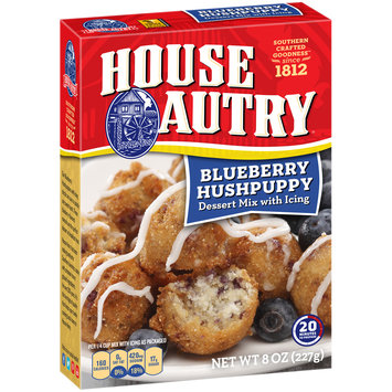 House Autry® Blueberry Hushpuppy Dessert Mix with Icing 8 oz. Box