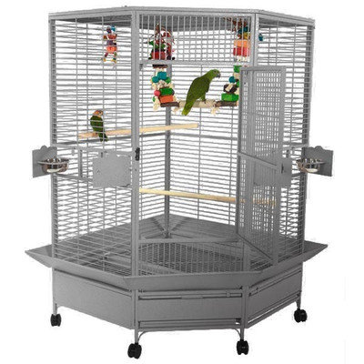 A & E Cage Co Extra Large Corner Cage