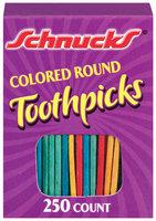 Schnucks Colored Round Toothpicks 250 Ct Box