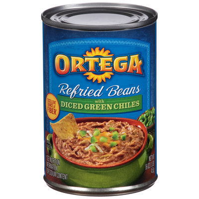 Ortega® Refried Beans with Diced Green Chiles 16 oz. Can