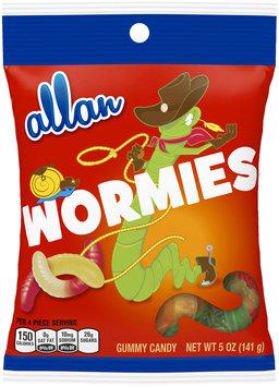 Allan Wormies Gummy Candy 5 oz. Bag