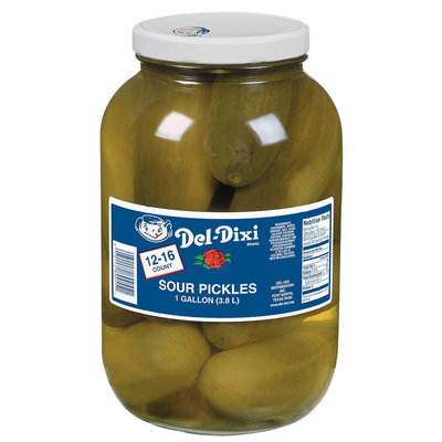 Del-Dixi Sour 12-16 Ct Pickles 1 Gal Jar