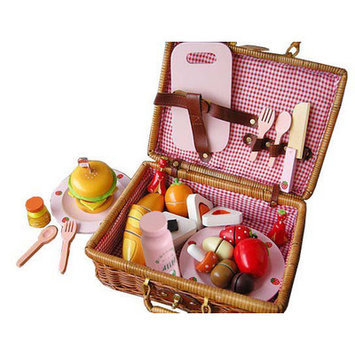 Merske Llc Berry Toys My Picnic Wooden Play Food