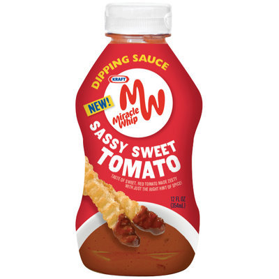 Kraft Miracle Whip Sassy Sweet Tomato Dipping Sauce 12 fl. oz. Bottle