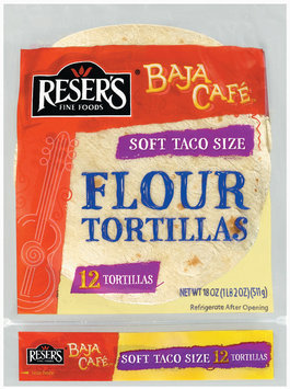 Baja Cafe Soft Taco Size 12 Ct Flour Tortillas 18 Oz Bag