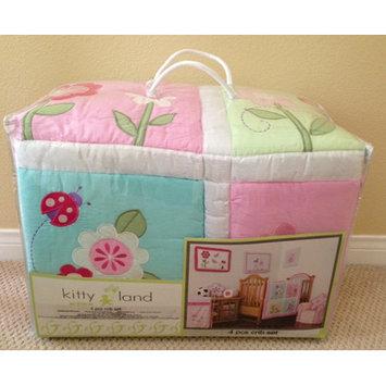 Home Sensation Pink Cotton 4 Peices Crib Bedding Set