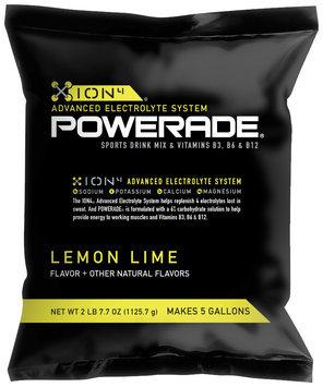 Powerade ION4 Lemon-Lime Powder 5 gal Pouch