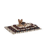 Slumber Pet Pawprint Dog Crate Mat Ivory, Medium/Large