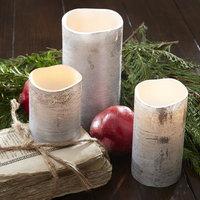 Birch Lane Silver Flameless Pillar Candle Size: Large