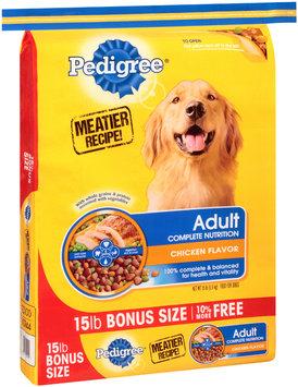 Pedigree® Adult Complete Nutrition Chicken Flavor Dog Food 15 lb. Bag