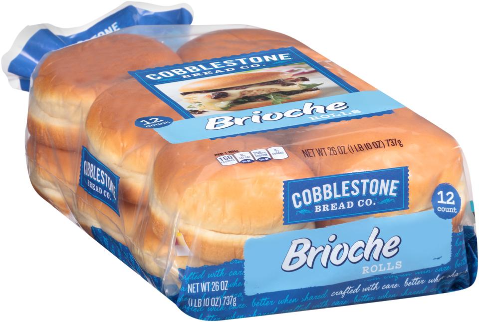 Cobblestone Bread Co.™ Brioche Rolls 12 ct Bag