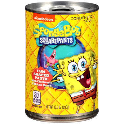 Nickelodeon® SpongeBob Squarepants™ Shaped Pasta with Chicken in Chicken Broth Condensed Soup 10.5 oz. Pull-Top Can