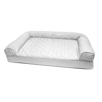 Zoey Tails Quilted Orthopedic Sofa-Style Dog Bed Color: Silver Gray, Size: Medium (30