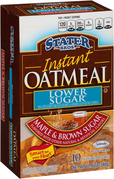 Stater Bros.® Lower Sugar Maple & Brown Sugar Instant Oatmeal 10 ct Box