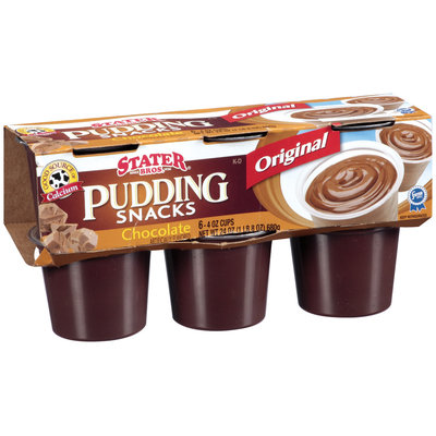 Stater Bros. Chocolate Pudding Snacks 4 Oz Cups