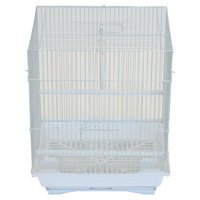 Yml Flat Top Medium Parakeet Cage with Food Access Door Color: White