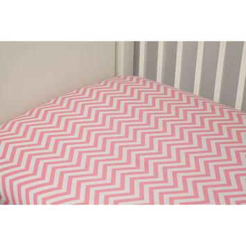 Riegel Cotton Chevron Crib Sheet Color: Pink