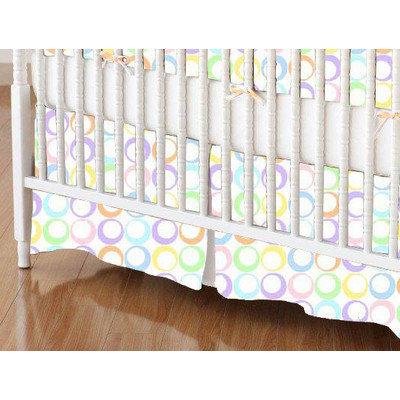 Stwd Pastel Rings Woven Crib Skirt