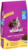 Whiskas® Meaty Selections® Chicken & Turkey Flavors Dry Cat Food 3.45 lbs.
