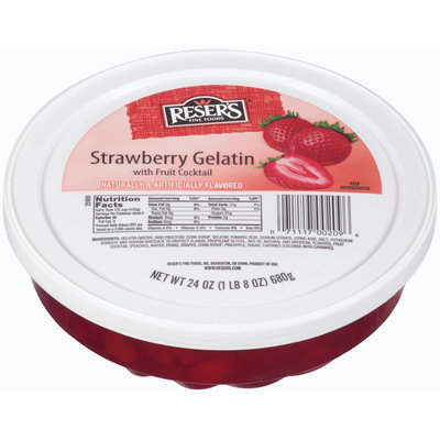 Reser's Fine Foods® Strawberry Gelatin with Fruit Cocktail 24 oz