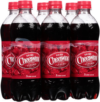 Cheerwine Cherry Soft Drink 6-0.5L Bottles