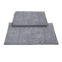 Textile Decor Castle 2 Piece 100% Cotton Echo Spray Latex Bath Rug Set, 24 H X 17 W and 34 H X 21 W, Silver