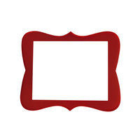 Secretly Designed Chase Frame Size: 8x10, Color: Barn Red