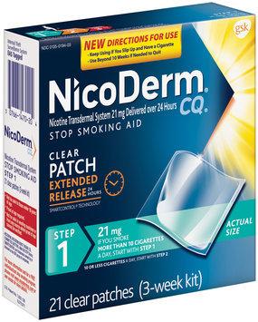 NicoDerm® CQ® Step 1 21mg Clear Patch Stop Smoking Aid 21 ct Box