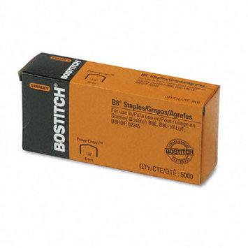 Stanley Bostitch Full Strip B8 Staples, 1/4