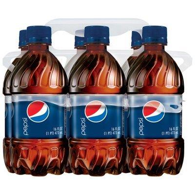Pepsi® 6 Pack 16 fl. oz. Plastic Bottles