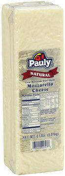 Pauly® Natural Low-Moisture Part-Skim Mozzarella Cheese5 lb. brick
