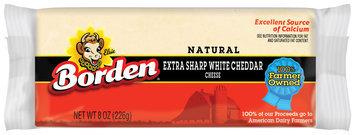 Borden Natural Extra Sharp White Cheddar Cheese 8 Oz Chunk