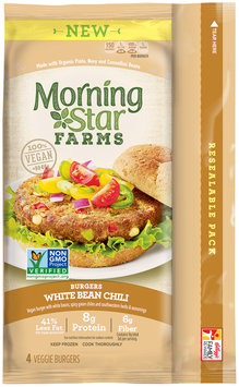 Morning Star Farms® White Bean Chili Burgers 9.5 oz. Bag