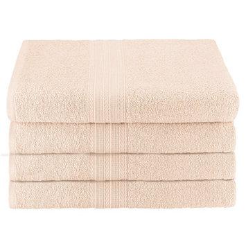 Simple Luxury Superior Bath Towel (Set of 4), Ivory