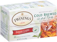 Twinings of London English Classic Refreshing Cold Brewed Iced Tea Tea Bags 20 Ct Box