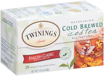 Twinings of London English Classic Refreshing Cold Brewed Iced Tea Tea Bags 20 Ct Box